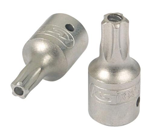 KS Tools 1/4 Bit-Stecknuss 5stern m.Bohrung,TS8