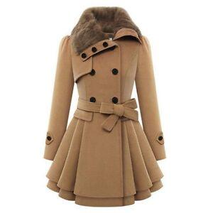 17 fashion women warm slim coat jacket thick parka overcoat long
