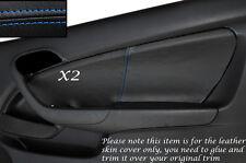 BLUE STITCH 2X DOOR CARD SKIN COVERS FITS HONDA INTEGRA DC5 ACURA RSX 02-06