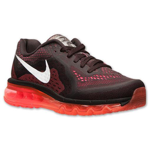Women's Nike Air Max 2014 Running Shoes, 621078 200 Size 7.5 Dark Volt/Orange/Re