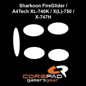 Corepad-Skatez-Sharkoon-FireGlider-A4Tech-740K-747H-Souris-Pieds-Patins-Teflon