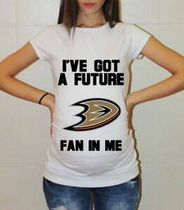 premium selection d8966 9459f Details about Anaheim Ducks Baby Shower Hockey Maternity Shirt Pregnancy  Shirts Maternity