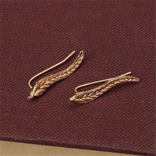 Ohrstecker Blatt vergoldet 1 Paar 24,0 mm