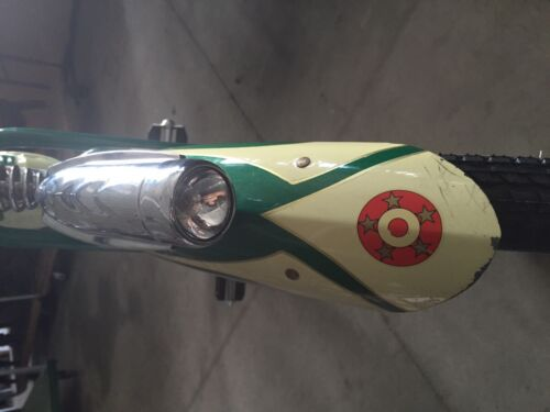 Chrome bicycle light SCHWINN headlight streamline COLUMBIA bike head light