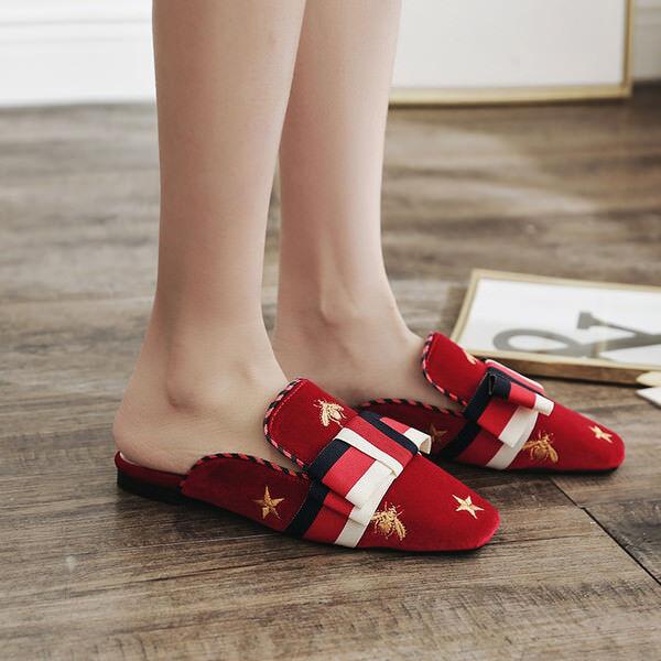 Zapatillas elegantes zuecos rojo Colorido suela elegantes elegantes elegantes cómodo como piel 9844  bienvenido a comprar