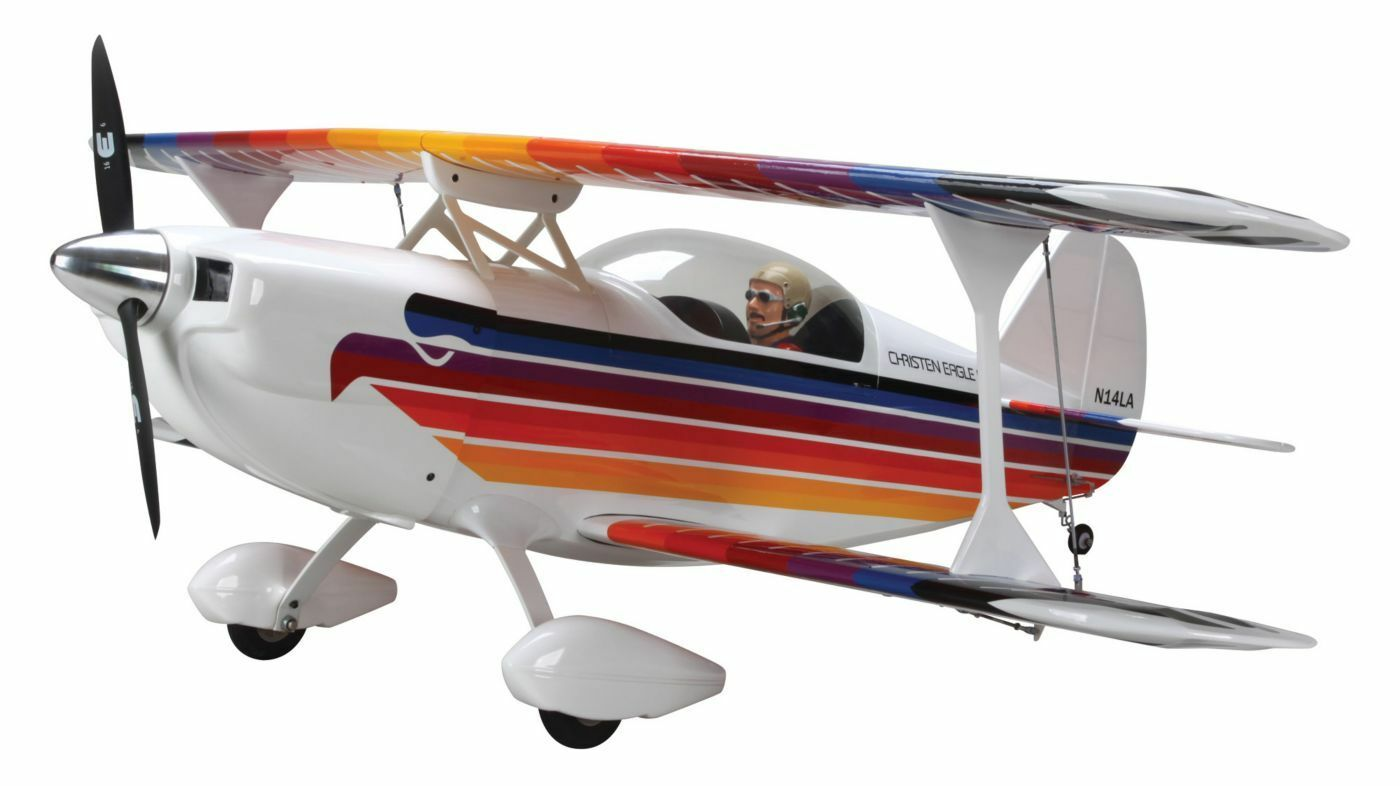 New Hangar 9 Christen Eagle II 90 ARF Almost Ready To Fly RC Airplane HAN5010