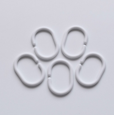 12stk Duschvorhang Ringe Weiß Vorhang Haken Duschringe