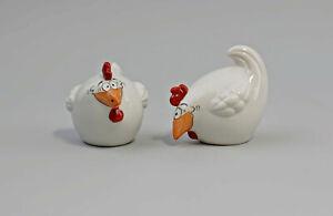 9942717 Porzellan S/P-Streuer Paar Hühner Rabatt Skonto Ziege by W&A H6cm