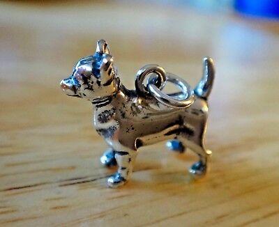 Sterling Silver 5 Gram Heavy 3D 16x28mm German Shepherd Dog Charm