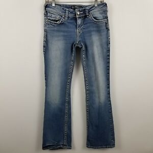Silver-Suki-Boot-Cut-Women-039-s-Medium-Wash-Blue-Jeans-Size-28-x-32