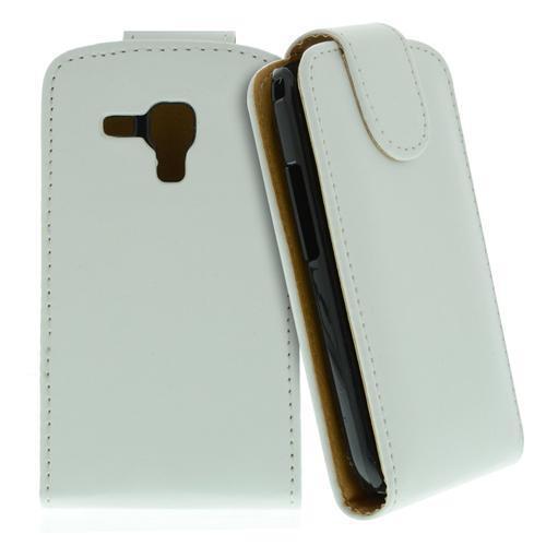 para Samsung Galaxy S Duos / S7562 Blanco -kunstleder Funda,Funda de móvil
