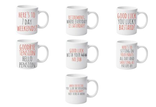 Selection Of Funny Retirement Mugs by Forever Personal Designs