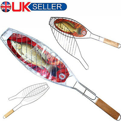 Barbecue Fish Grilling Basket Grill BBQ Net Steak Meat Vegetable Holder Tool Net