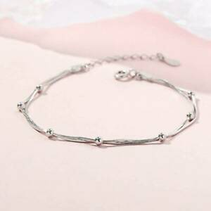 Adjustable-Simple-Exquisite-Beads-Double-Layer-Bracelet-Women-Bangle-Chain-N7