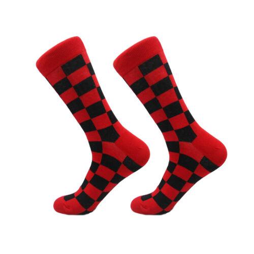 Mens Cotton Socks Funny Colorful Plaids /& Checks Novelty Dress Socks For Gifts