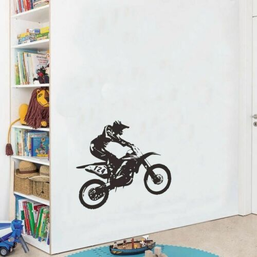 Motorcycle Racer Wall Sticker  Boys Room Background Art Decals Home Decorations