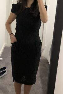 f0bd243188 Image is loading Bianca-Spender-Black-Lace-Dress-Size-Au6