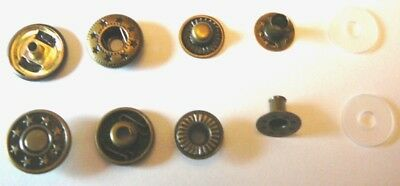 Set of 10 SNAP Fasteners dark teal green metal button 50 piece set FREE shipping