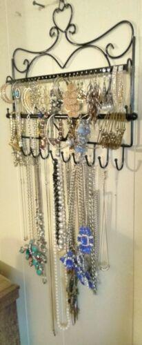 Wall Mount Heart Shape Jewelry Organizer Hanging Earring Holder