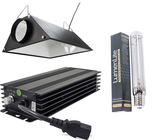 Kit Completo Kit de Luz Hidropónico HPS Cool Sombra Regulable interior crecer