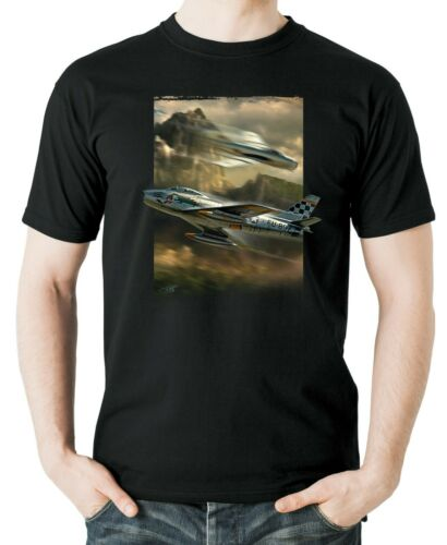 Flyingraphics aviation themed T Shirt /'F86 Sabre/' by Peter van Stigt