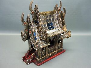Geisterhaus-Schrein-Altar-Buddha-Tempel-aus-Thailand-30-cm-Feng-Shui