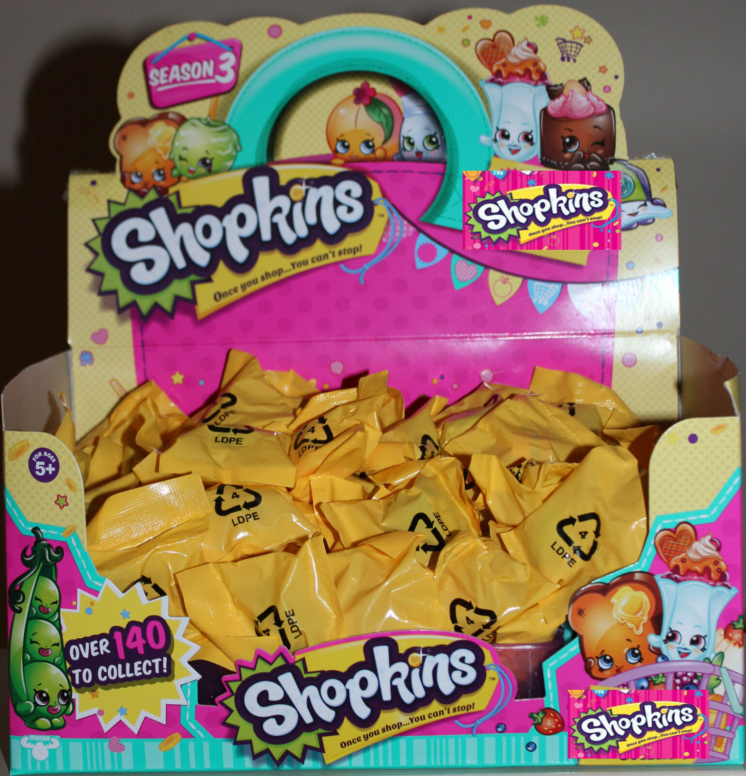 15 x x x Shopkins Season 3 Blind Bags - UNOPENED - 1102f3