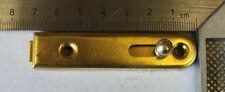 Möbelriegel Schubriegel 20 Stück gerade Eisen vermessingt 70 x 15 mm  105