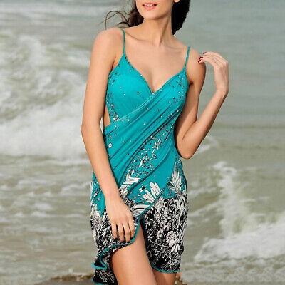 Women Pareo Cover Up Bathing Swimsuit Sarong Bikini Wrap Swimwear Beach Dress Ebay