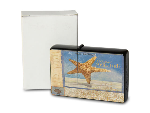 Pocket Windproof Lighter Brushed Oil Refillable Starfish