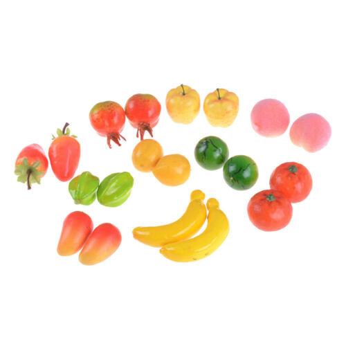 10pcs Many Kinds Of Fruit Miniature Dollhouse Decor Handmade Food Supply TO