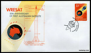 2017-Australian-WRESAT-Satellite-Woomera-S-A-FDC-First-Day-Cover-Stamps