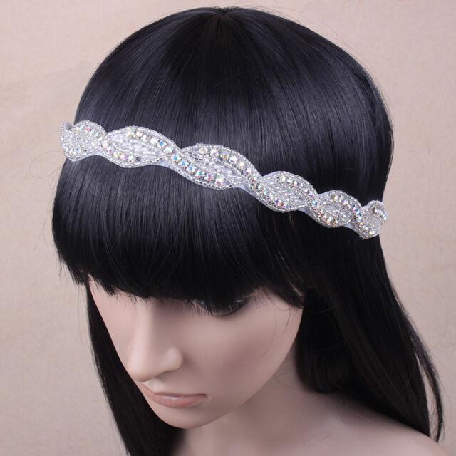 Crystal Bride Wedding Headband Bride Rhinestone Hairband UK Seller