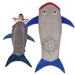 Shark Sleeping Bag kids shark sleeping bag blanket baby animals overalls children