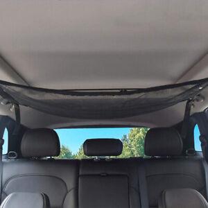 CAR-CEILING-ROOF-INTERIOR-MESH-POCKET-CARGO-NET-ZIPPER-STORAGE-BAG-SMART