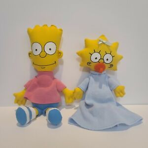 """Bart Simpson 11"""" & Maggie Simpson 8.5"""" 1990 20th Century Pre-owned"""