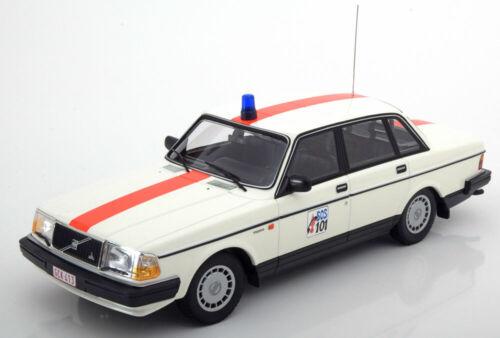 1:18 Minichamps volvo 240 GL Police Belgium 1986 White//Red