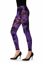Deep Purple Colour Splash (Tie Dye) Footless (TFL00012)