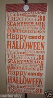 Storehouse 100% Cotton Table Runner 18 X 80 Halloween Theme Ivory/orange