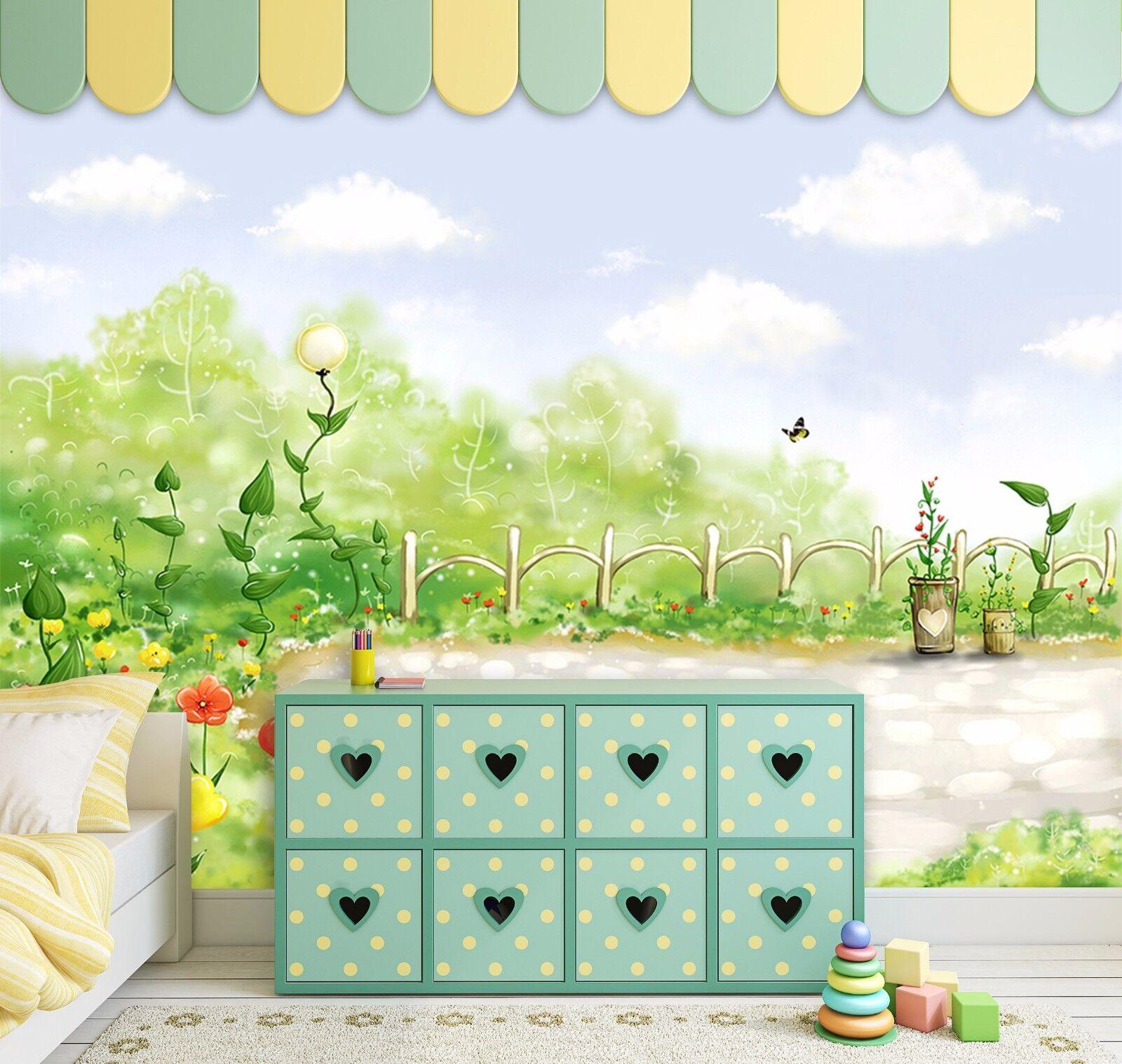3D Grün Louts Courtyard 3 Wall Paper Decal Dercor Home Kids Nursery Mural  Home