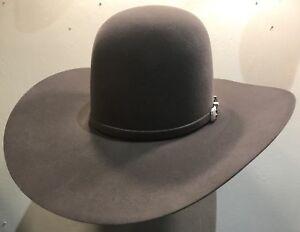 cf45c8608e549 New American Felt Hat 7X Steel size 7 1 8 Beaver Fur Felt Cowboy Hat ...