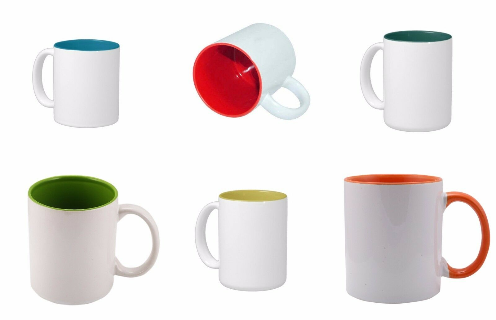 Sublimation Colourot 48 Mugs Double Layer Coated 11oz Tea Coffee Home Mug AAA