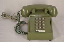 Vintage 1981 ITT 2500 Avocado Green Push Button  Desk Phone w/Original cord