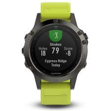 Garmin Fenix 5 Slate Gray w/ Amp Yellow Band GPS Multisport Watch - 010-01688-02