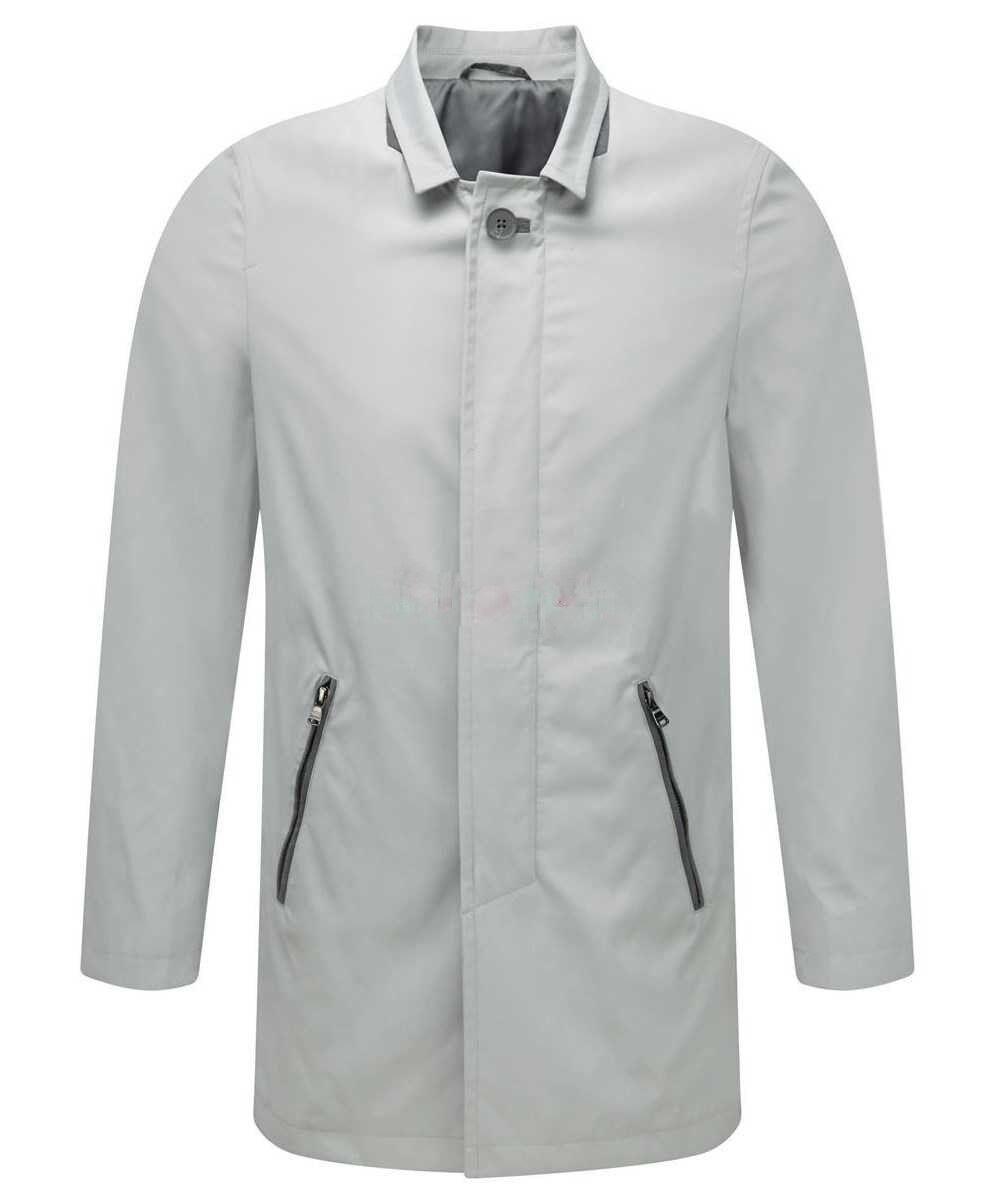 Men's DKNY women Karan Button Top Trench Coat Vapor Grey color Size M-40R - BNWT