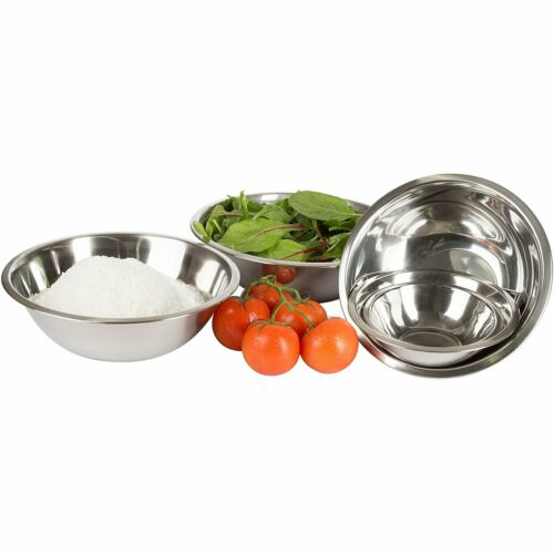 Crestware Commercial 6-Piece Professional Stainless Steel Mixing Bowls Set of 6