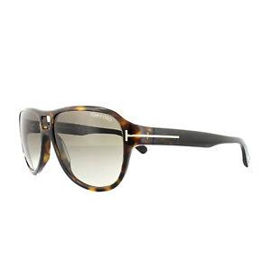 694b4d6cb3c62 Tom Ford Sunglasses 0446 Dylan 52K Dark Havana Brown Gradient ...