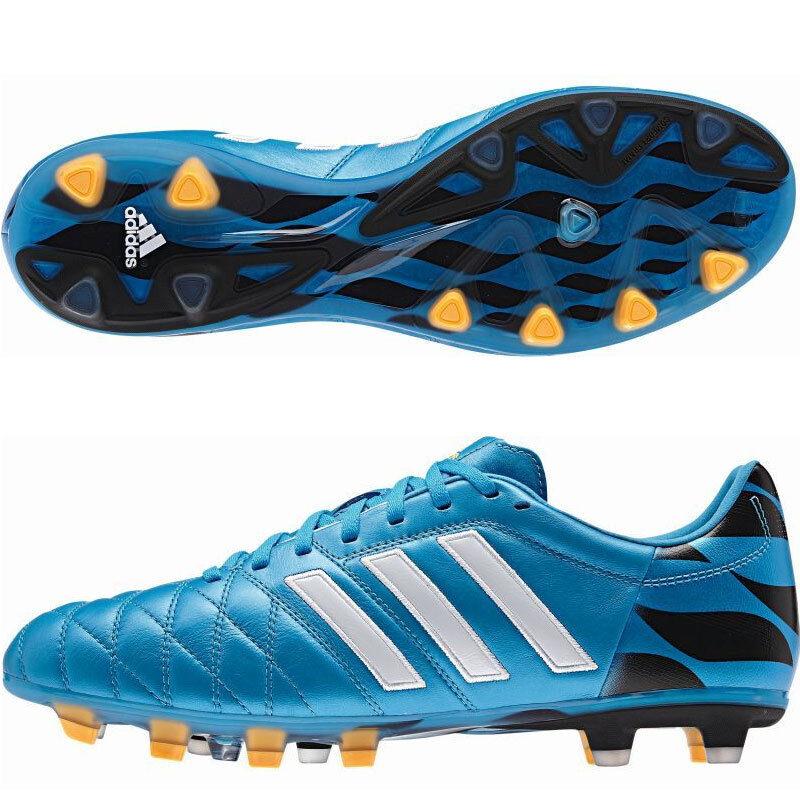 Sz 11pro 7 uomini  adidas 11pro Sz fg terra ferma gli scarpini da calcio m17743 pelle blu e nero 13b44d