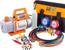 Professional Vacuum Pump Manifold Gauge Set Hvac Ac Refrigeration Kit Diagnost