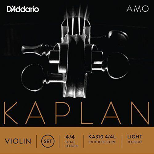 Light Tension D/'Addario Kaplan Amo Violin String Set 4//4 Scale